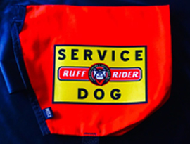 Ruff Rider Roadie Service Dog cape picture